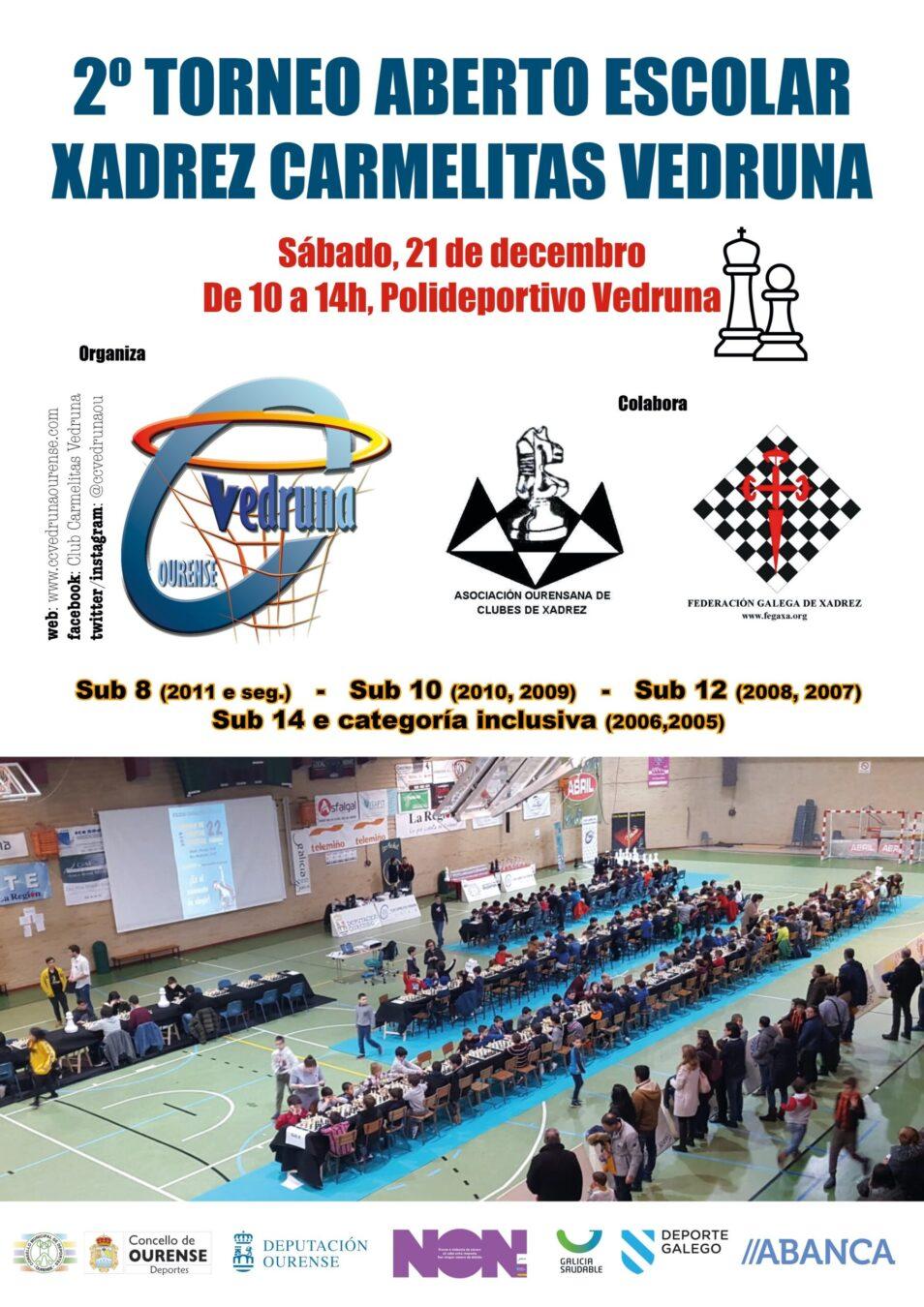 II Torneo Aberto Escolar de Xadrez Carmelitas Vedruna