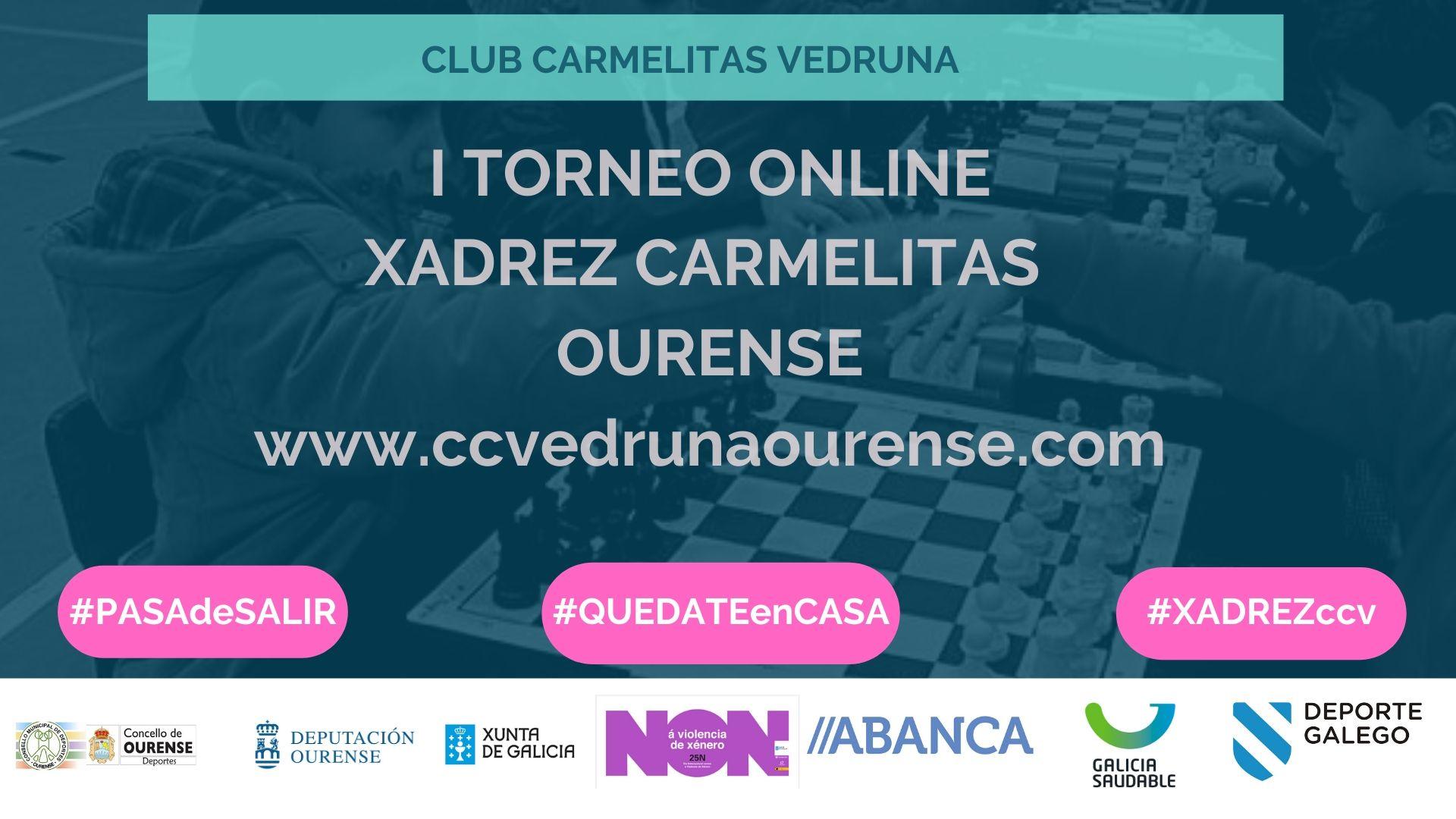 I Torneo Online Xadrez Carmelitas Ourense
