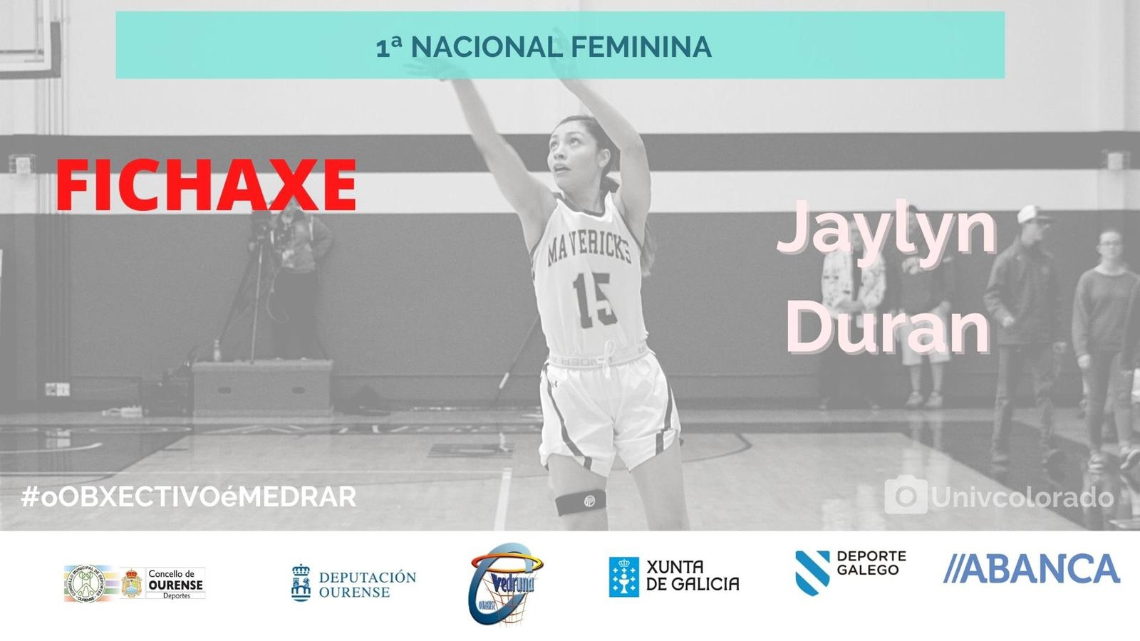 Jaylyn Duran nueva jugadora para el Codigalco Carmelitas Ourense