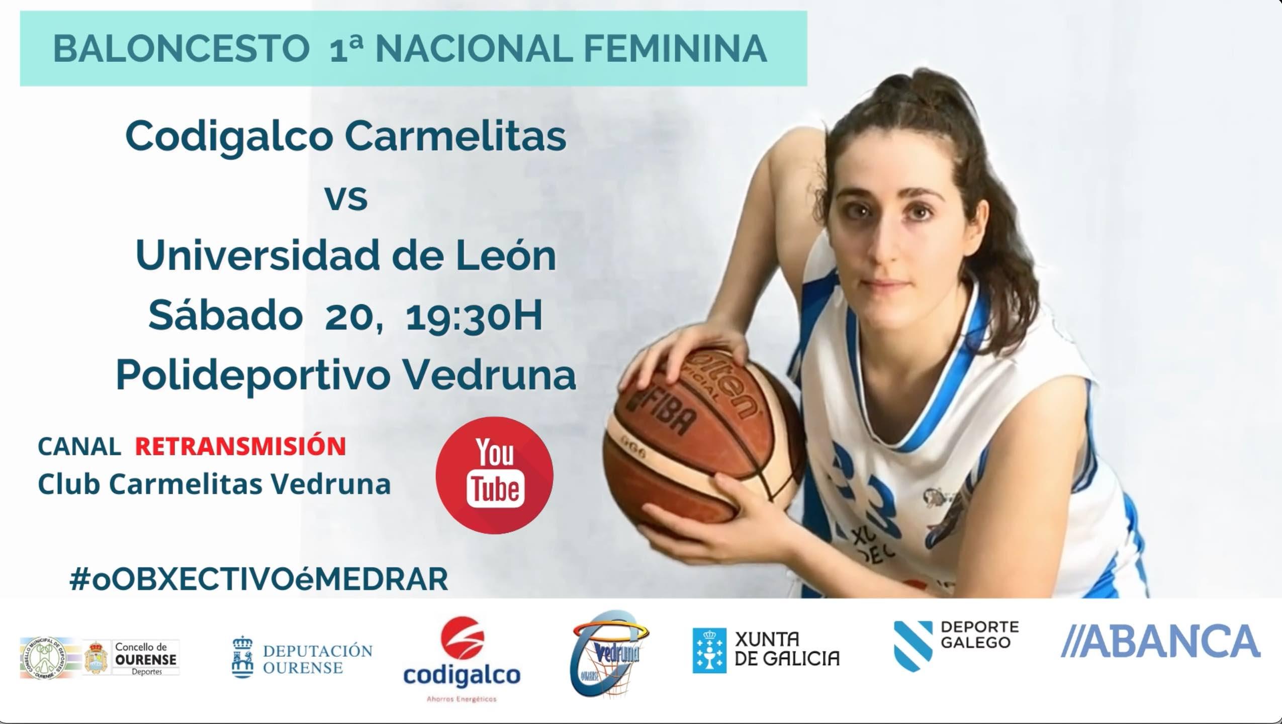 Previa 1ª Nac. Fem.: Codigalco Carmelitas vs Universidad de León