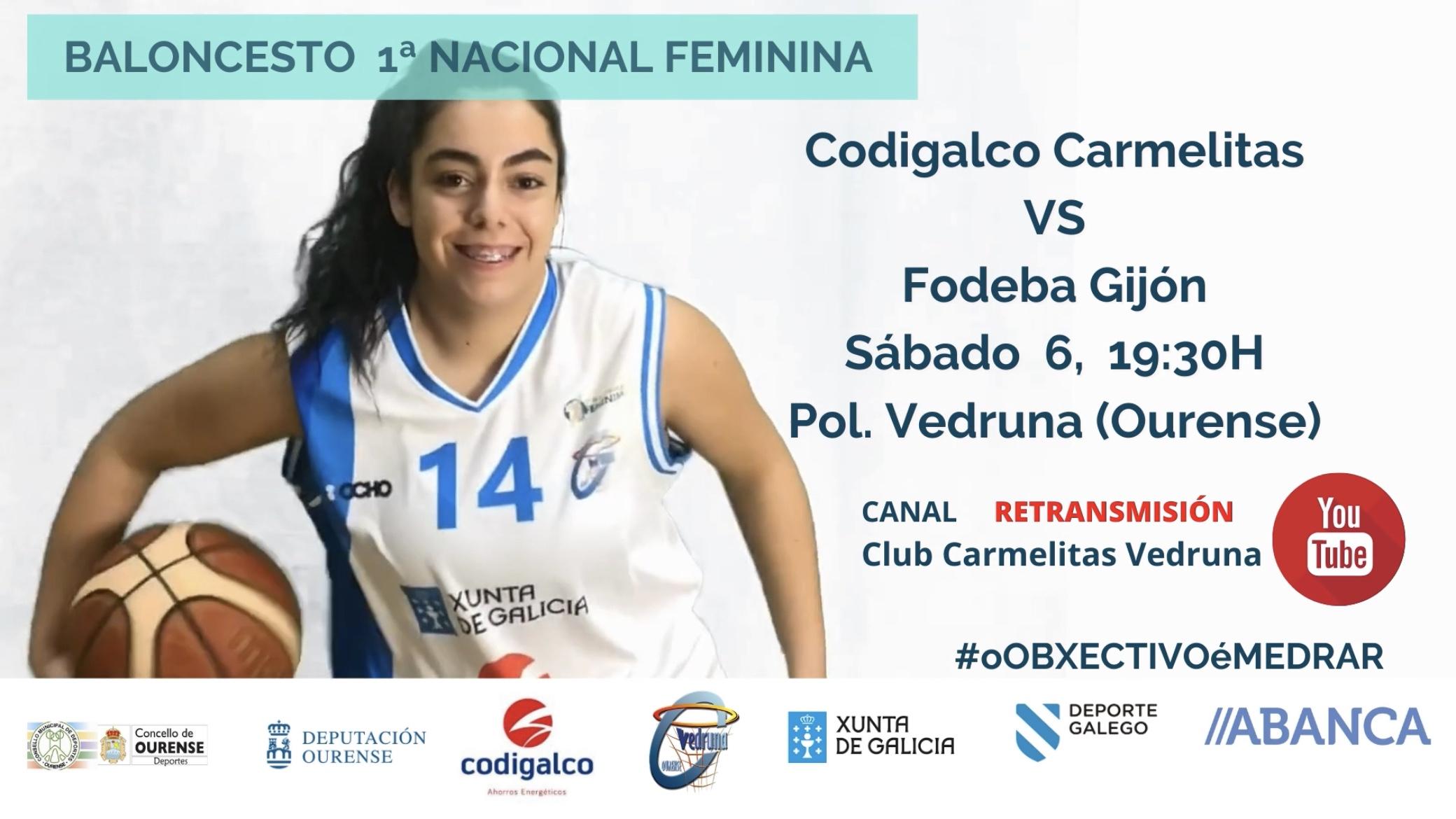 El Codigalco Carmelitas recibe al Fodeba Gijón este sábado en el Vedruna desde las 19:30h