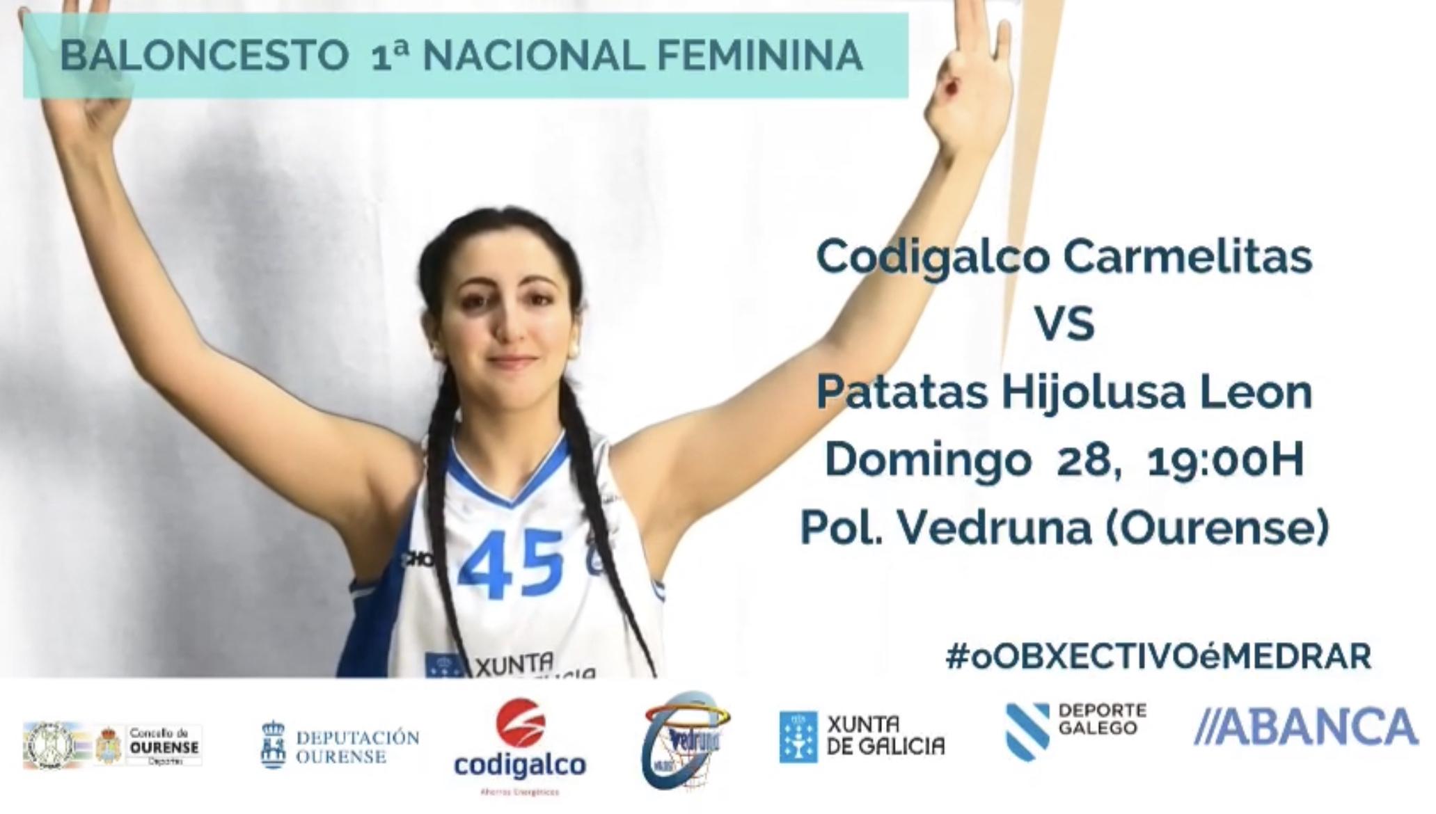 PREVIA 1ª División Nacional Fem.: Codigalco Carmelitas vs Patatas Hijolusa