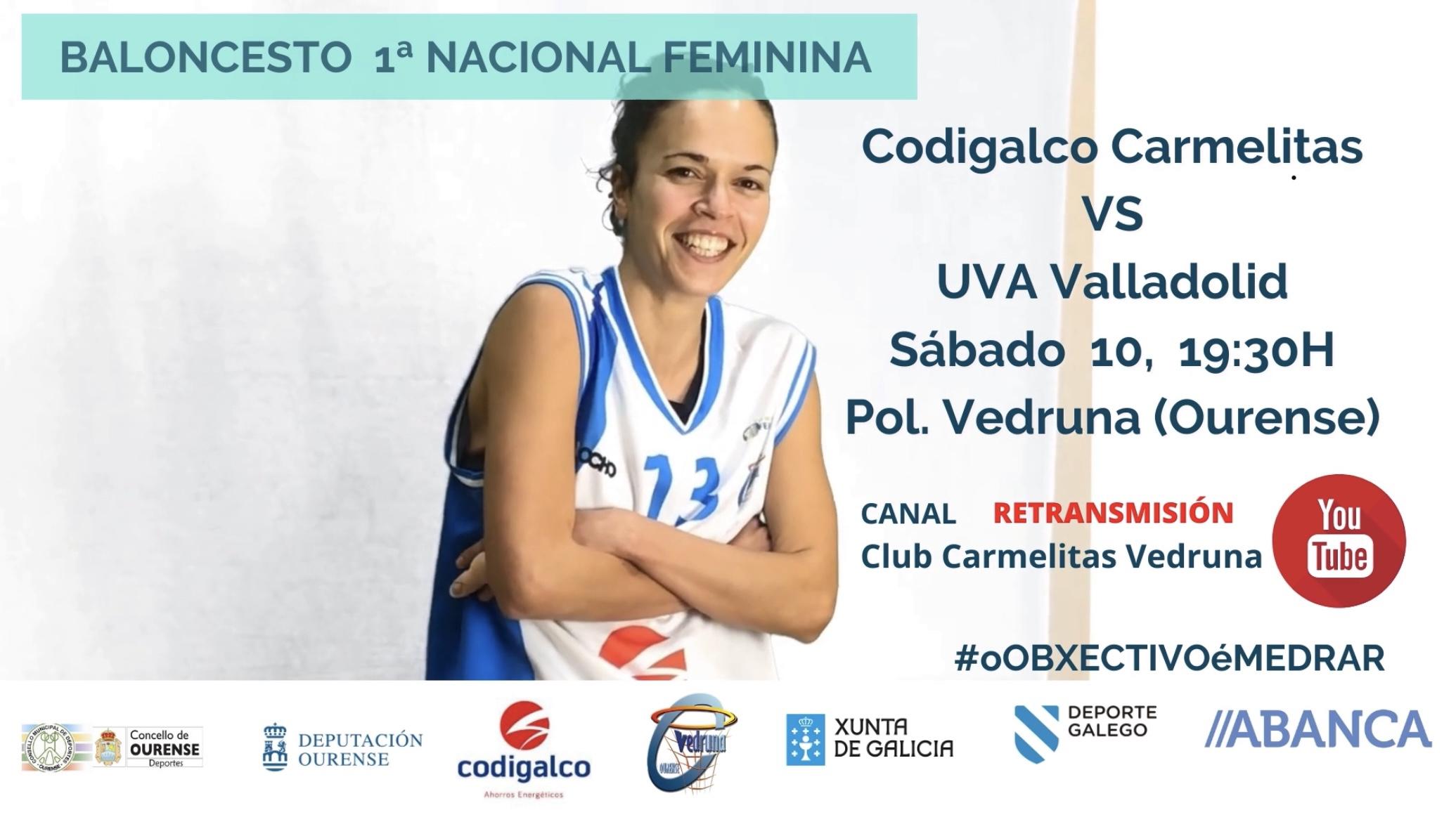 1ª División Nacional Femenina: Codigalco Carmelitas vs Universidad de Valladolid