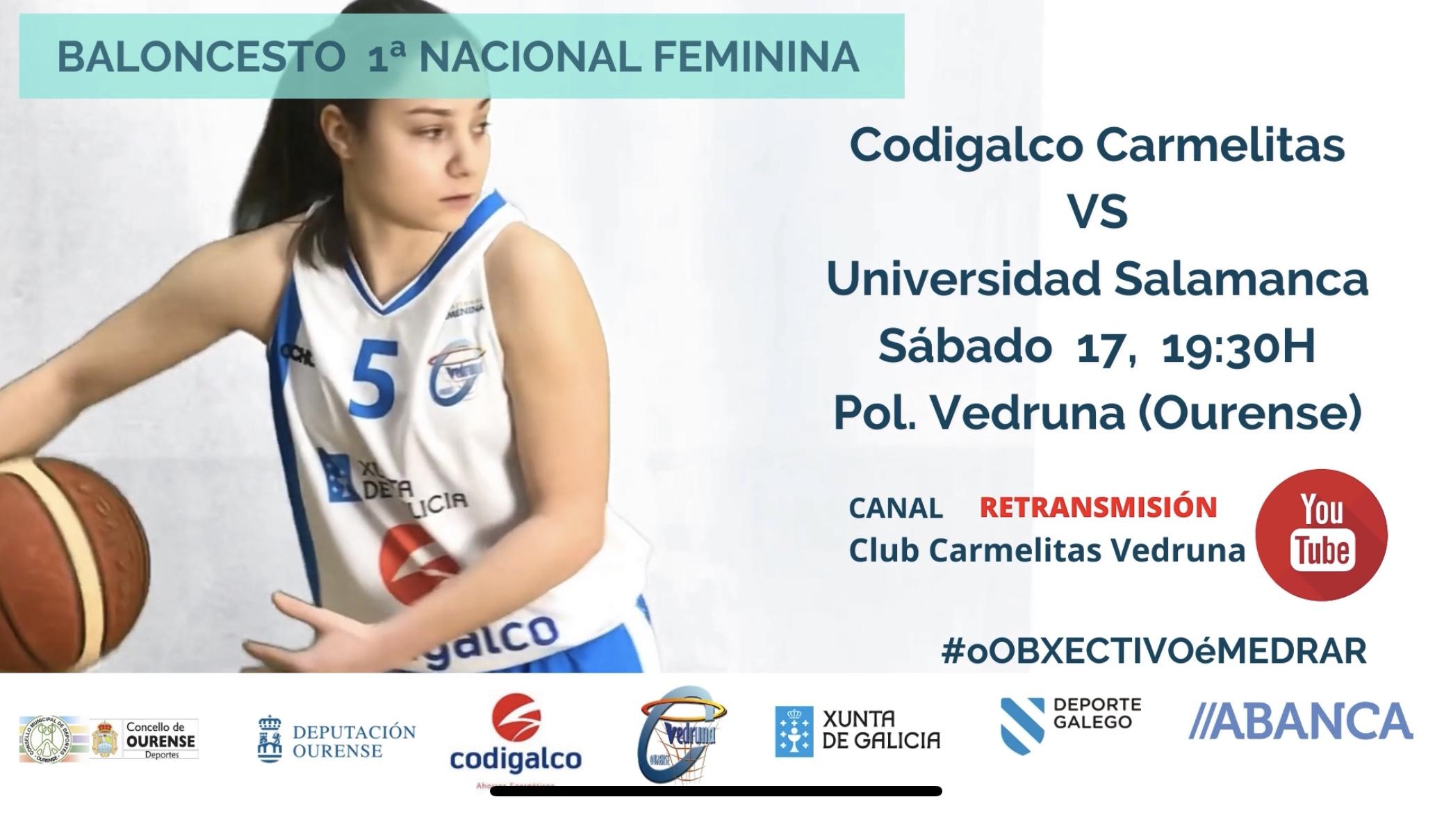 Play off de ascenso a LF2: Codigalco Carmelitas vs Universidad de Salamanca